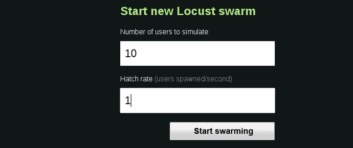 locust start screen